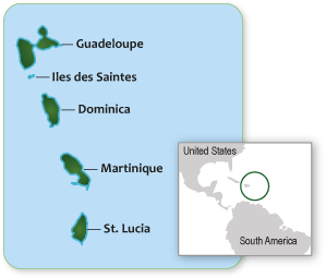French West Indies Cruise Destinations